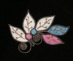 Colorful Branch designer zipper and felt handmade brooch