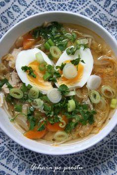Qchnia po prostu: Ramen z indykiem Chow Mein, Chow Chow, Ale, Thai Red Curry, Turkey, Menu, Soup, Cooking, Ethnic Recipes