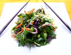 Avocado Wasabi Salad http://www.lilgreendress.com/2012/10/vegan-1-project-avocado-wasabi-salad/#