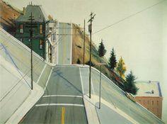 ohzephyr:  Wayne Thiebaud, 24th Street Intersection, 1977