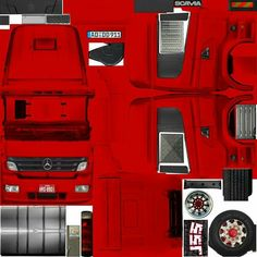 Cars And Motorcycles, Ferrari, Jeep, Paper Crafts, Trucks, Gabriel, Model Building, Heavy Truck, Cardboard Car