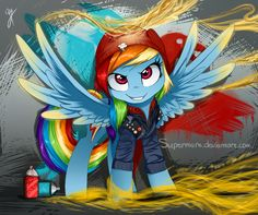 In famous: the second son (rainbow dash) by Supermare.deviantart.com on @DeviantArt