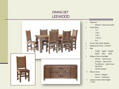 This is a solid Saligna wood dining suite with lovely features ❤