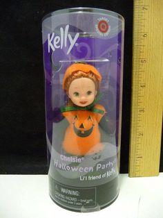 Mattel Kelly Club Doll Chelsie is a Pumpkin! Halloween Pumpkins, Halloween Party, Little Kelly, Barbie Kelly, Barbie Sisters, Barbie Dream, Baby Sister, Barbie Collection, A Pumpkin