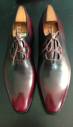 #Men #shoes ( #Corthay, Belphegor in burgundy) -- These colours are simply hypnotic.