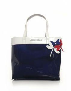 21eecafa07 Armani Jeans Blue Dragonfly Tote Bag Armani Clothing