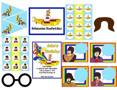 Yellow Submarine party printables