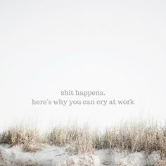 why crying at work isn't a big deal {thelilyhoneylife}