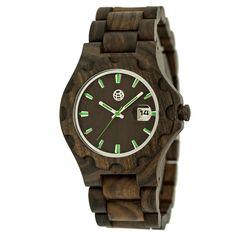 Earth Wood Men's Gila Eco - Friendly Sustainable Wood Bracelet Watch -