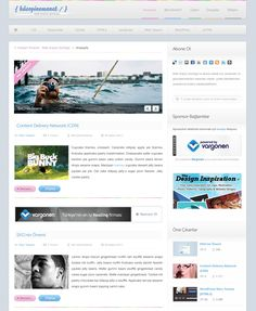 Minimal blog PSD Template