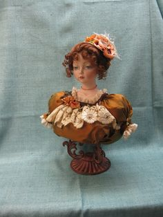 Porcelain Bust Doll  A beautiful Victorian Young by KaysStudio