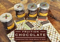 At Fruition Chocolate, each bar starts with fair trade, organically grown cocoa beans slowly roasted and stone ground in the Fruition workshop.