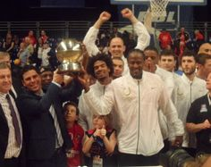 BBL Playoff Final 2013 - Leicester Riders celebrating victory!