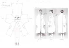 Fashion sketchbook design development sketches by Hwansung Park