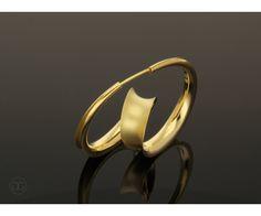 Thomas Garcia-Greno Earring Oktave gold 750 Anticlastic artwork Handmade, Germany
