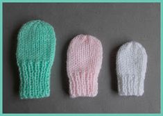 months, newborn, preemie This pattern includes 2 styles of baby mittens . months, newborn, preemie This pattern includes 2 styles of baby mittens . One style has a ribbed cuff to ensur. Baby Mittens Knitting Pattern, Crochet Baby Mittens, Crochet Baby Blanket Beginner, Baby Hats Knitting, Knitting Patterns Free, Free Knitting, Knitted Hats, Free Pattern, Pink Mittens
