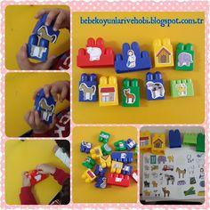 Elifce Bebek Oyunları ve Hobi: Legolar ile 2'li puzzle yapımı