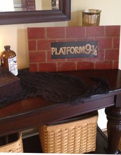 Harry Potter Train Station Sign 9 3/4 -- great gift idea for your Harry Potter fan!