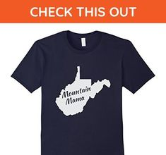 Mens WV Mountain Mama Shirt West Virginia Medium Navy - Relatives and family shirts (*Amazon Partner-Link)