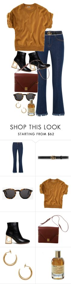 """""""Untitled #10763"""" by nikka-phillips ❤ liked on Polyvore featuring Sonia Rykiel, Gucci, Monokel, Madewell, Cartier, Maison Margiela and Le Labo"""