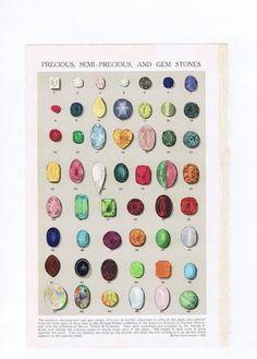 Antique Vintage Color Chart Print Precious by chemindesmuguets. , via Etsy.