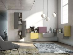 Living, Rebel Space by FIMAR Materials such as wood is taken from old farmhouses and the glass and iron from disused industrial buildings, Interior Design Tips, Home Interior, Wall Shelving Units, Modern Wall Units, Tv Stand Designs, Wall Boxes, Modular Design, Contemporary Design, Living Room Furniture