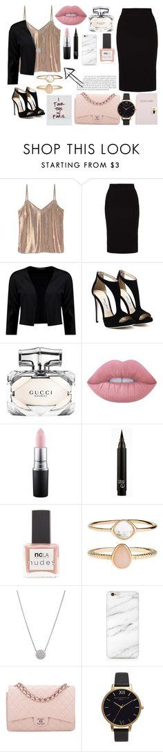 Sin título #12 by bertastoneez on Polyvore featuring moda, Boohoo, even&odd, Chanel, Olivia Burton, Accessorize, Lime Crime, MAC Cosmetics, Gucci and ncLA