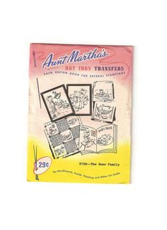 1950s Aunt Marthas Hot Iron Transfer Pattern by EclecticEmbrace