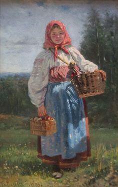 Russian Folk, Russian Art, Victorian Paintings, Russian Culture, Soviet Art, Russian Painting, Virtual Art, Art Academy, First World