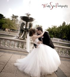 Oh my gosh I want this picture ----------------- Detroit Zoo Wedding picture....there's a fountain like this at Cincinnati!!!!!