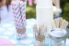 Vintage Ice Cream themed Birthday Party #first #birthday #twins