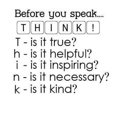 Before you post, pin or Tweet. Think about someone else besides yourself.