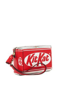 4b91ff820d Kit Kat Clutch In Bright Red Capra Leather by ANYA HINDMARCH Now Available  on Moda Operandi