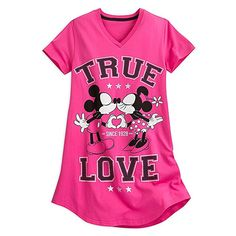 Disney Women's Mickey and Minnie Mouse Nightshirt LADIES 3XL Pink