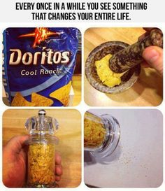 you should do this for your taco bell dorito shell tacos...i have an extra grinder if you want it :)