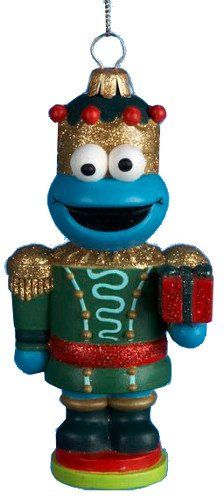 Kurt Adler 5 Nutcracker Cookie Monster Glass Ornament -- This is an Amazon Affiliate link. Check out the image by visiting the link.