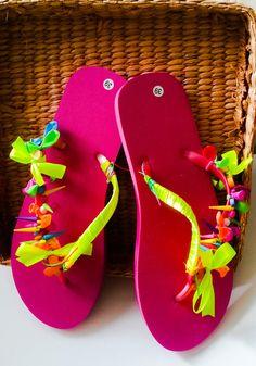 76a713a693c 34 Best rainbow flip flops images