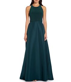Buy Adrianna Papell Jersey Taffeta Dress, Black, Dusty Emerald from our Women's Dresses range at John Lewis & Partners. Free Delivery on orders over White Tie Wedding, Black Tie Attire, Taffeta Skirt, Mother Of The Bride Gown, Green Gown, Bride Gowns, Groom Dress, Formal Gowns, Winter Dresses