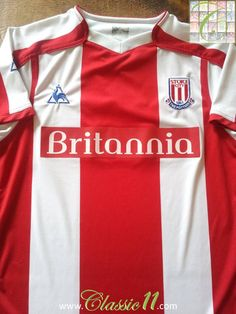 Relive Stoke City's season with this vintage Le Coq Sportif home football shirt. Stoke City Fc, Bolton Wanderers, Hull City, West Bromwich, Middlesbrough, Football Shirts, Colorful Shirts, How To Memorize Things, Store