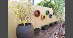 Jardim Reciclado com Pneus