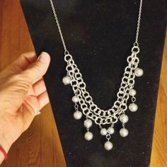 Silver Double Chain Bubble Necklace by LoveMeThreads on Etsy, $25.00