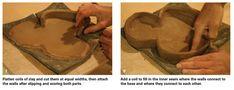 Creating slump molds to make interestingly shaped pots