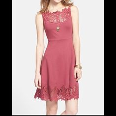 NWT Free People Summer Dress Lace detail In a soft rose color. No trades. Generous discount with bundle. Free People Dresses