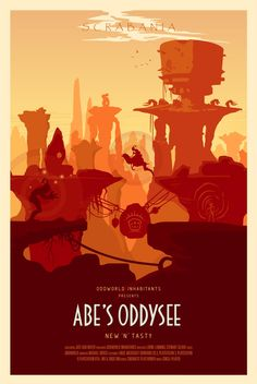 Oddworld: Abe's Oddysee Video Game Posters -Created byConor Smyth You'll have to travel back to the year 1997 to remember the original release of this classic platformer, but now the game has been re-released this summer for Playstation 4. These posters are Conor's tribute to the remake. You can follow Conor onTwitterandFacebookfor more of his work.