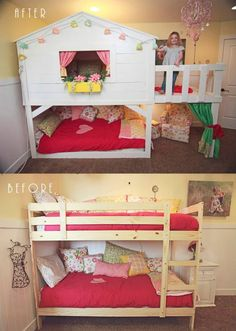 bunk beds with desk ikea hack - Google Search
