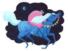 Equus, watercolor, gouache illustration on paper by ZSALTO. https://www.facebook.com/zsaltoart