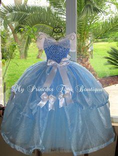 Cinderella Girls Dress Girls Cinderella Tutu Dress Disney Princess Tutus via Etsy
