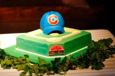 grooms cake chicago cubs nashville, catholic nashville wedding krista lee photography houston station reception, #nashvillewedding, #warmemorial, @Krista McNamara McNamara Newbill