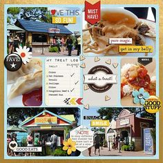Disney Scrapbook Page Layout - Epcot Food and Wine Festival by Stephanie of Bee Tree Studios