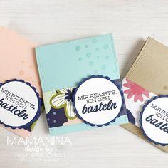 mama nina: Schnelle Teebeutel Goodies DIY Diy Blog, Stampin Up, Goodies, 3d, Book Folding, Handmade, Creative, Presents, Do Crafts
